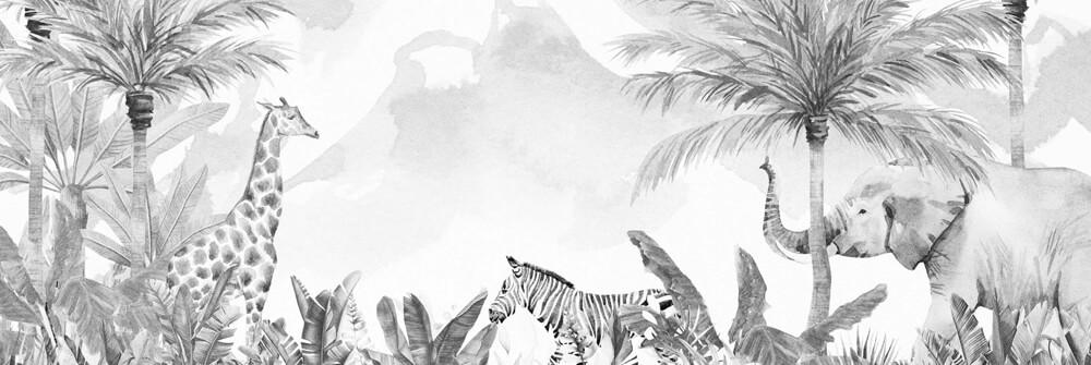 Papier Peint Panoramique jungle pour enfants