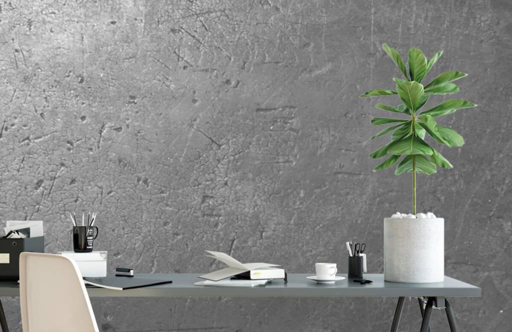 Papier peint aspect béton - Mur en béton gris - Chambre d'adolescent 1