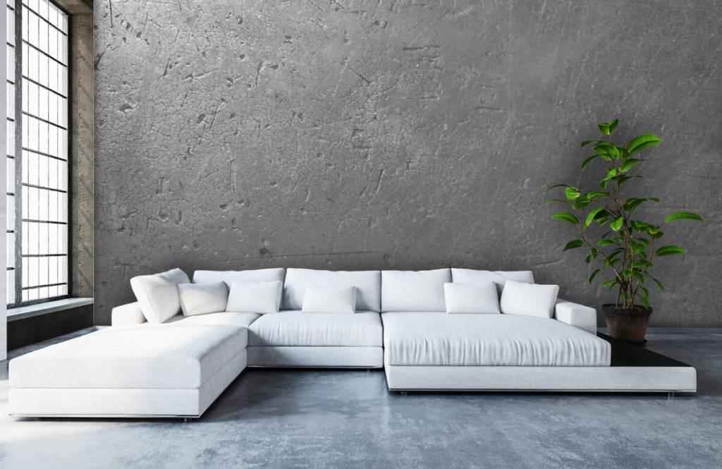 Papier peint aspect béton - Mur en béton gris - Chambre d'adolescent 5