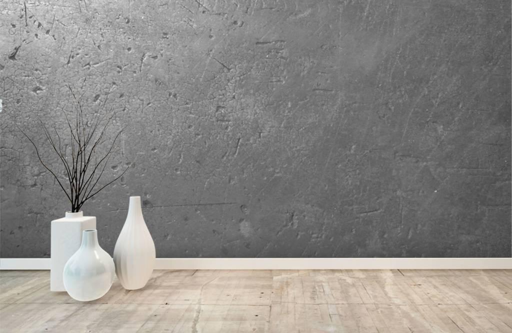 Papier peint aspect béton - Mur en béton gris - Chambre d'adolescent 7