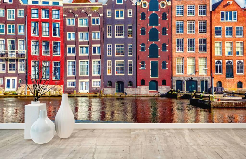 Papier peint Villes - Maisons d'Amsterdam - Chambre à coucher 1