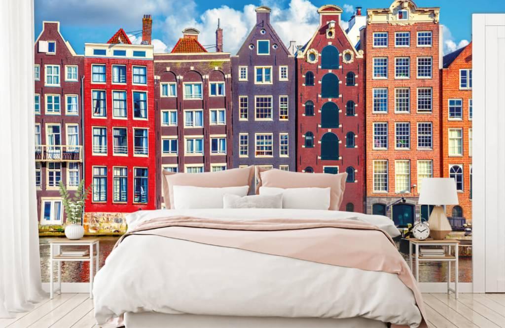 Papier peint Villes - Maisons d'Amsterdam - Chambre à coucher 2