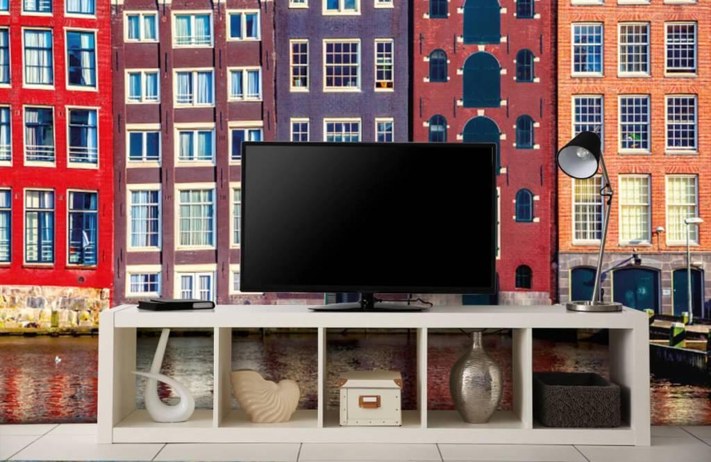 Papier peint Villes - Maisons d'Amsterdam - Chambre à coucher 5