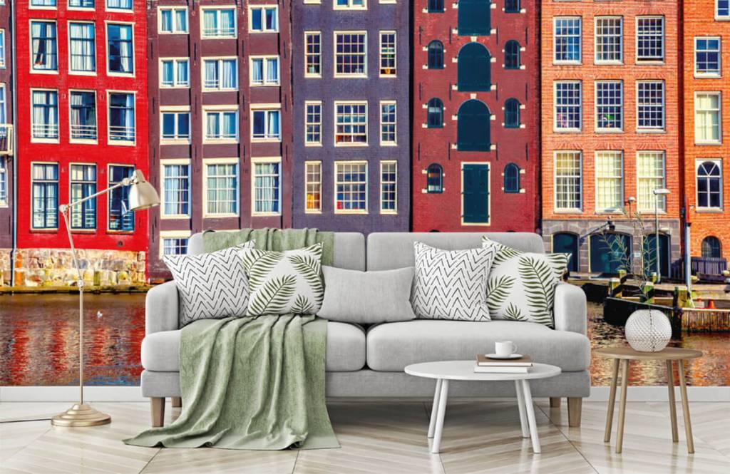 Papier peint Villes - Maisons d'Amsterdam - Chambre à coucher 8