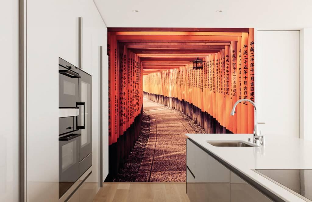 Papier peint Villes - tunnel chinois - Chambre à coucher 2
