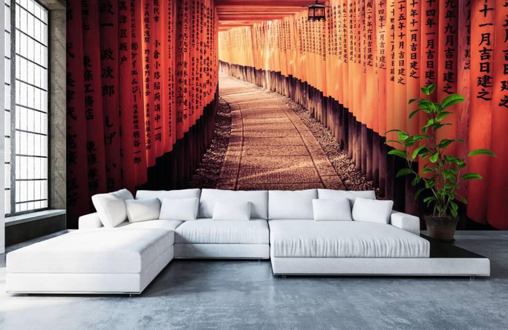 Papier peint Villes - tunnel chinois - Chambre à coucher 6