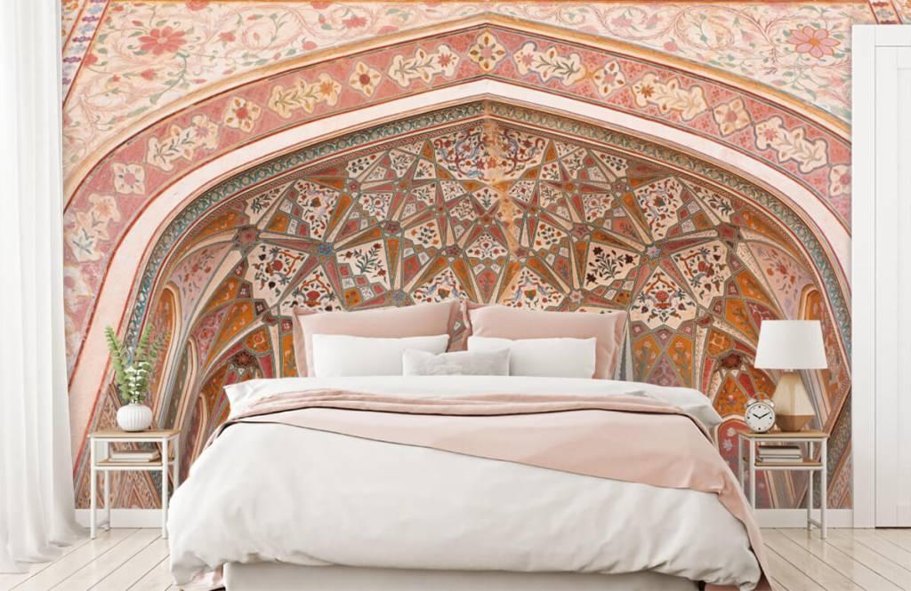 Monuments - Arche indienne richement peinte - Chambre à coucher 1