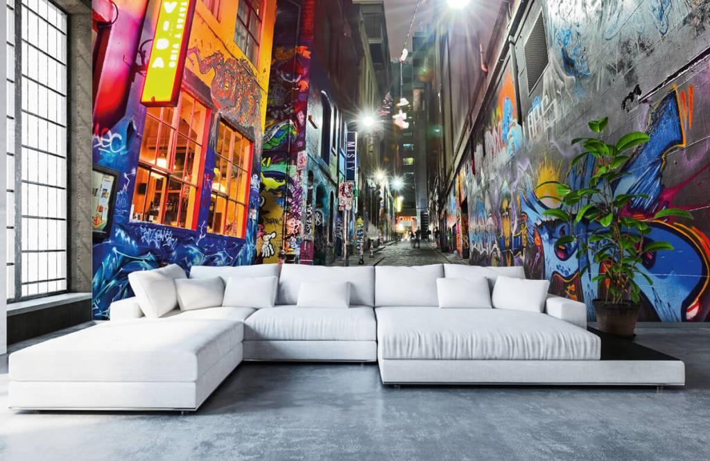 Graffiti - Rue avec graffiti - Chambre d'adolescent 1