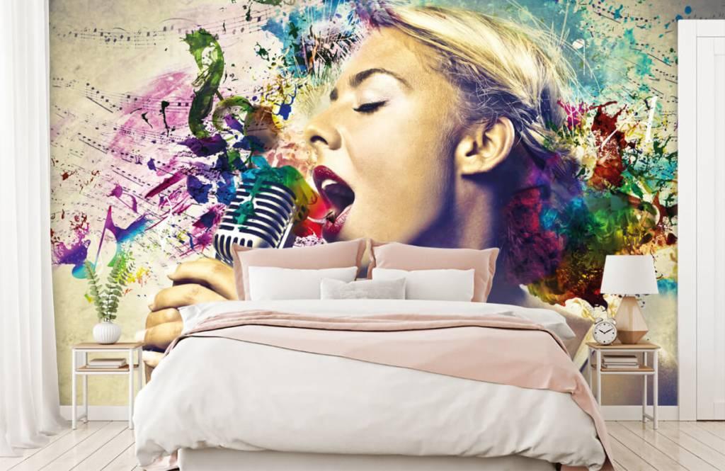 Papier peint moderne - Vieille chanteuse - Chambre d'adolescent 2