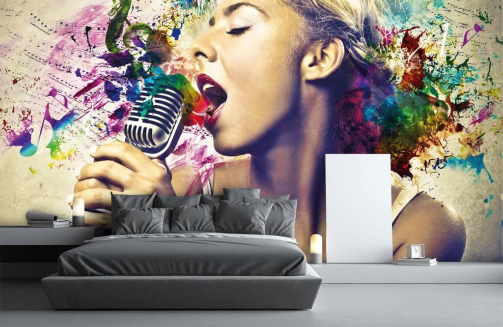 Papier peint moderne - Vieille chanteuse - Chambre d'adolescent 3