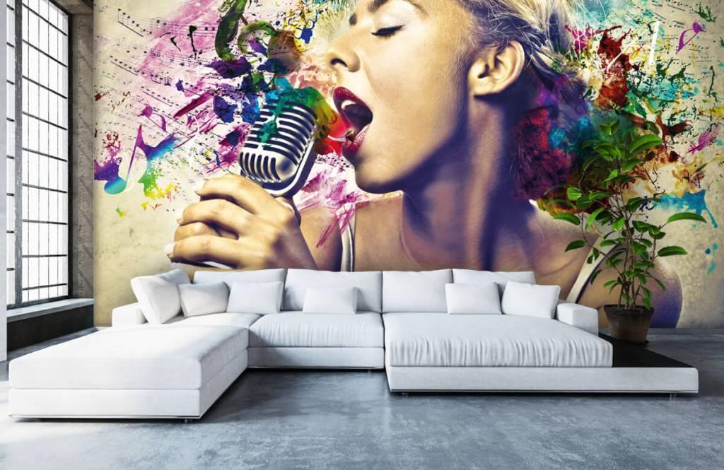 Papier peint moderne - Vieille chanteuse - Chambre d'adolescent 5