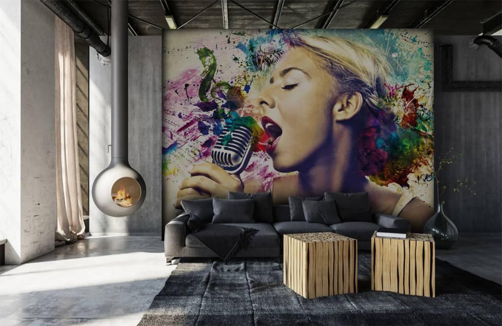 Papier peint moderne - Vieille chanteuse - Chambre d'adolescent 6