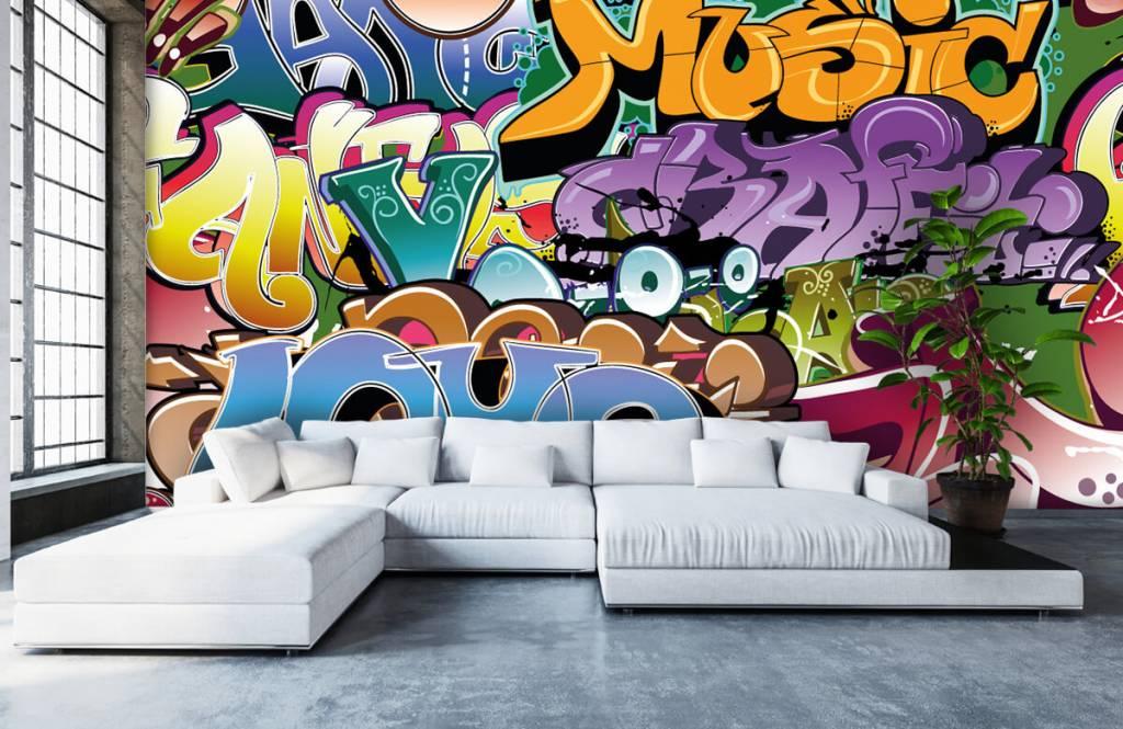 Graffiti - Graffitis signés - Chambre d'adolescent 1