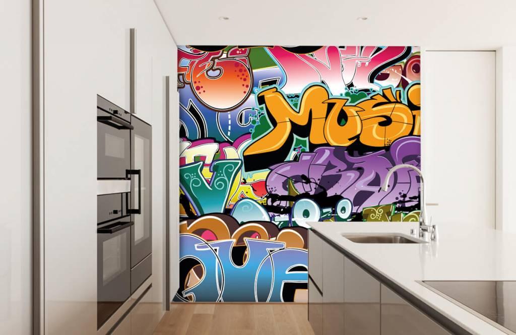 Graffiti - Graffitis signés - Chambre d'adolescent 4