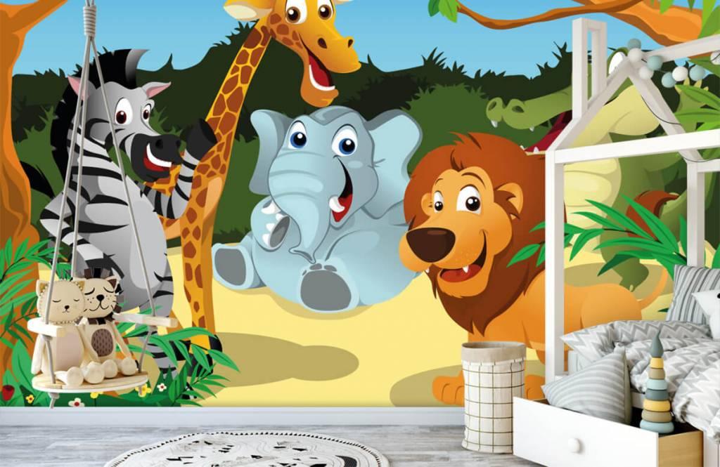 Animaux de Safari - Animaux sauvages joyeux - Chambre des enfants 1