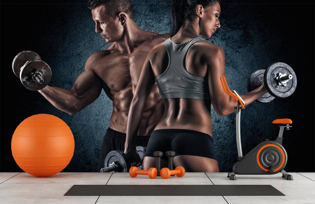Fitness - Couple athlétique - Chambre d'hobby 1