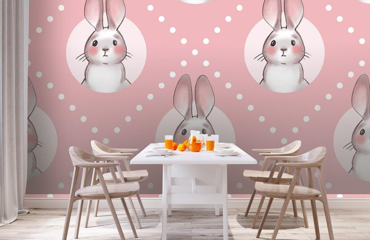 Pattern Motif de lapin rose 3
