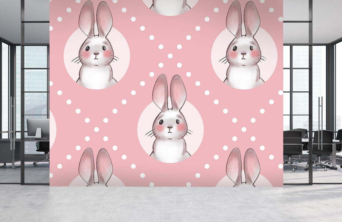 Pattern Motif de lapin rose 8