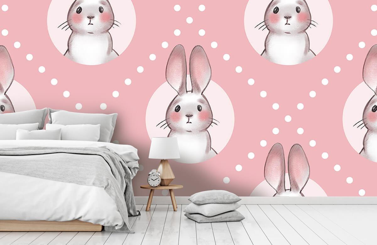 Pattern Motif de lapin rose 2