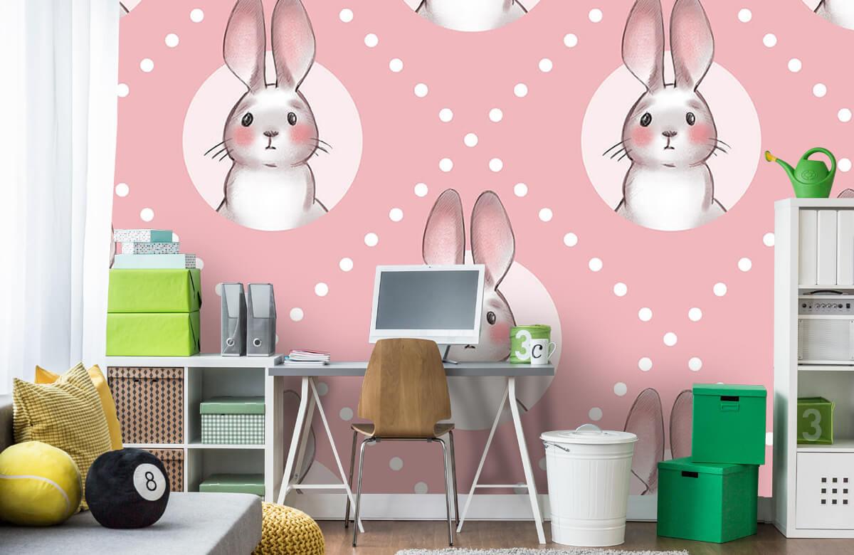 Pattern Motif de lapin rose 4