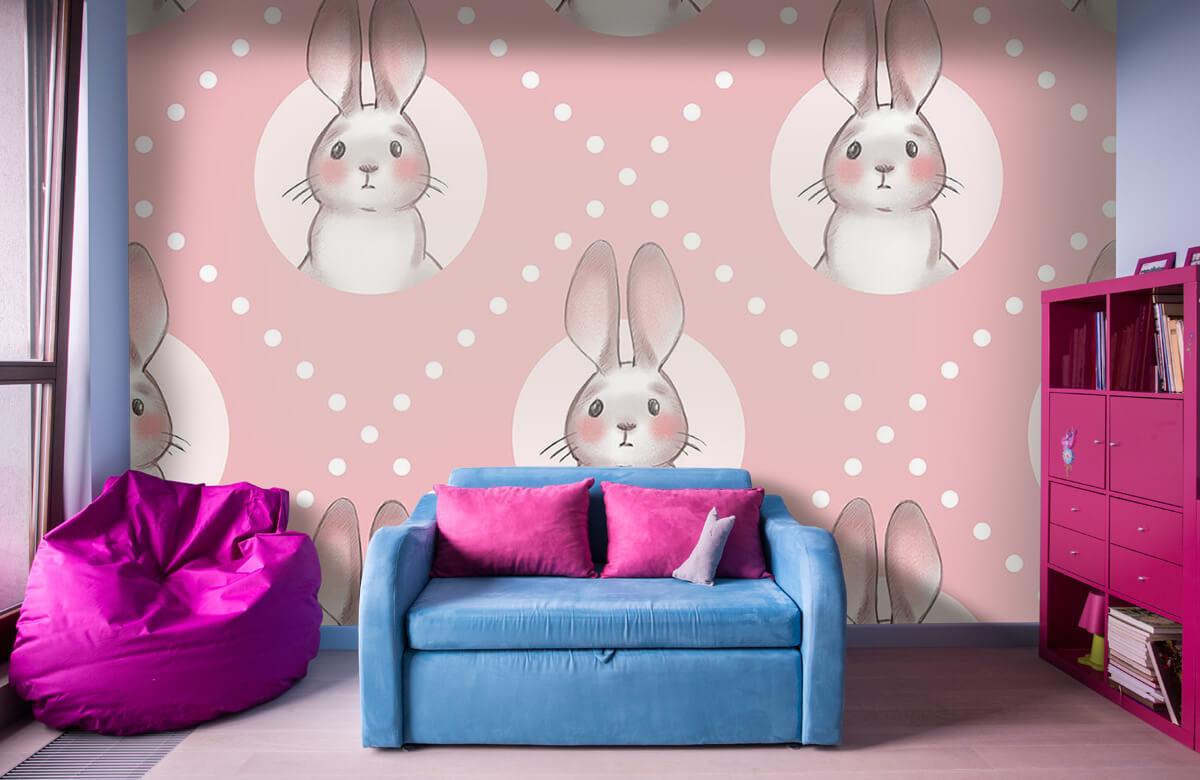Pattern Motif de lapin rose 1