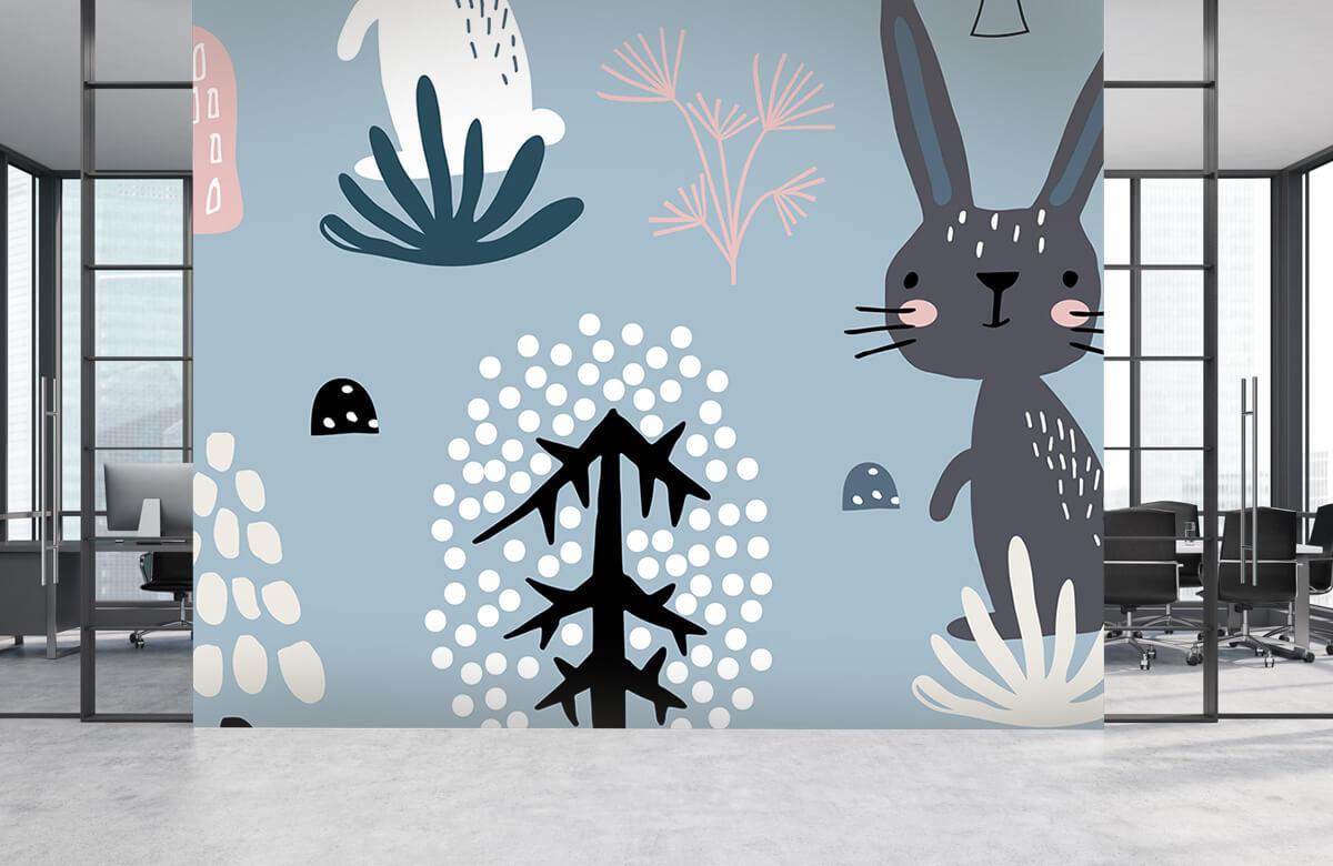 Pattern Motif de lapin bleu 5