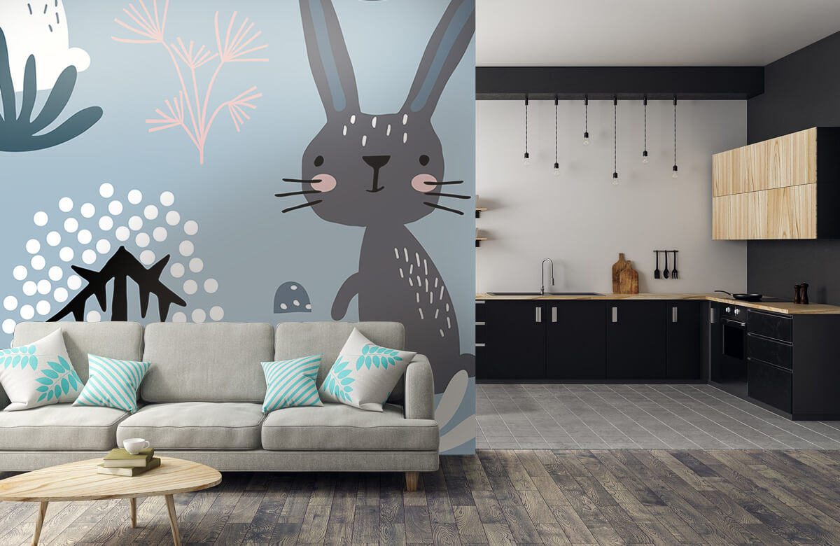 Pattern Motif de lapin bleu 8