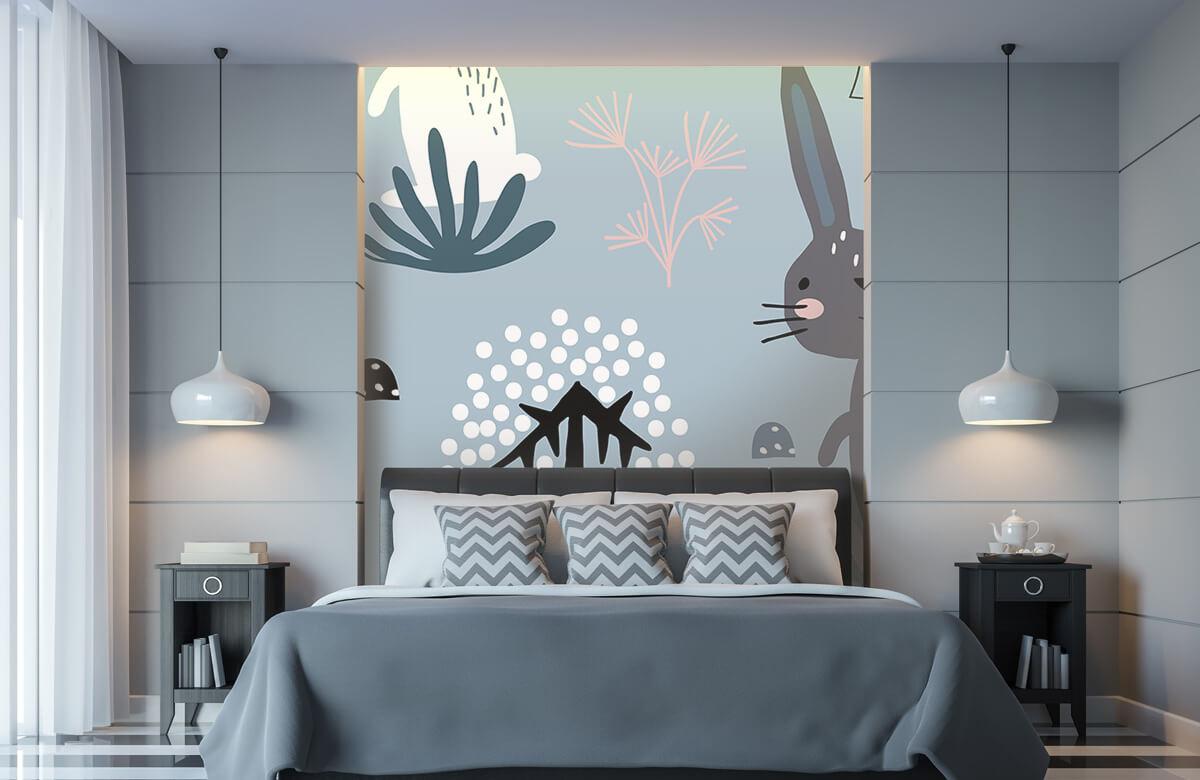 Pattern Motif de lapin bleu 6