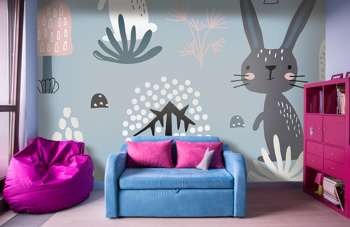 Pattern Motif de lapin bleu 4
