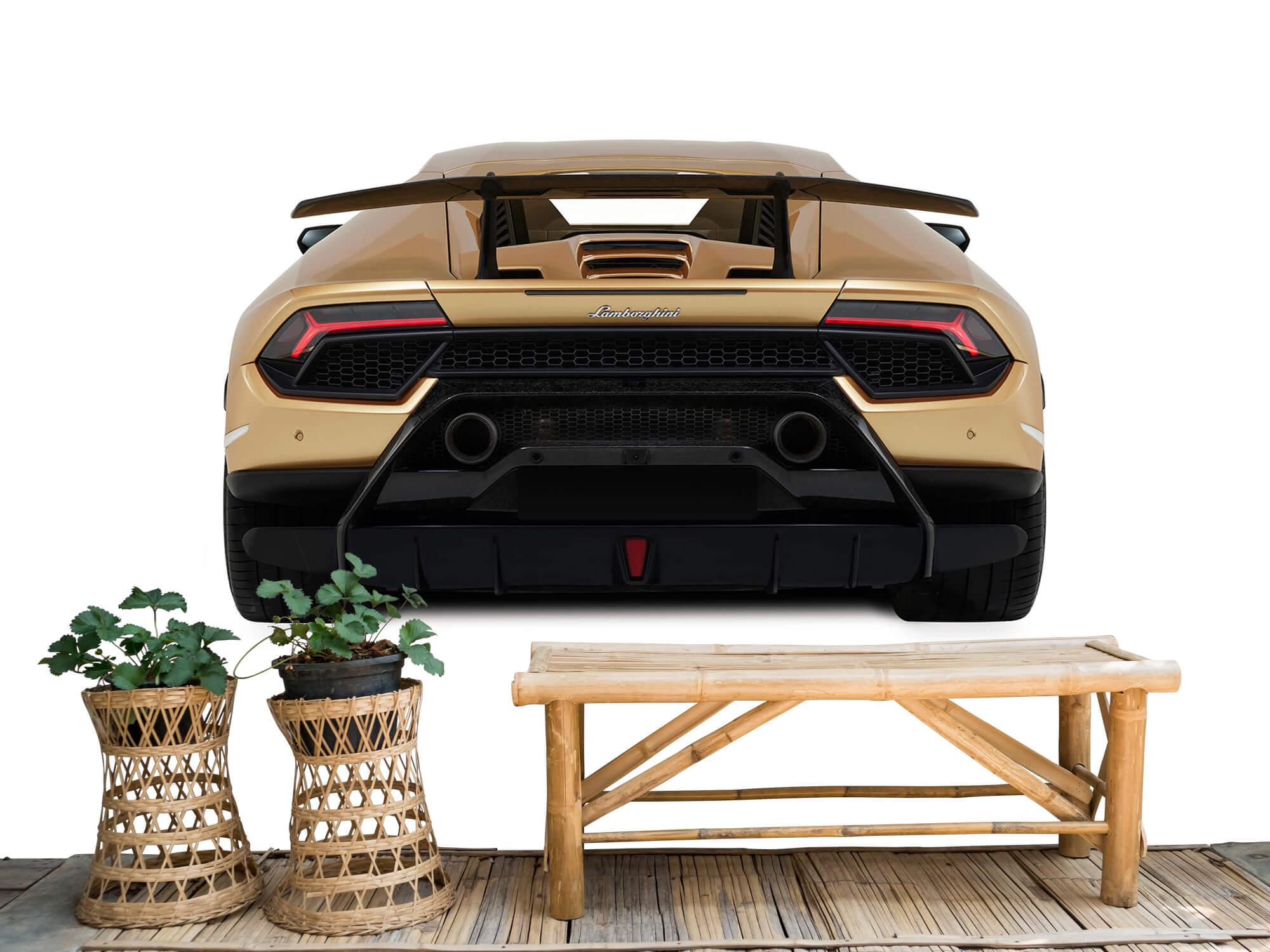 Wallpaper Lamborghini Huracán - Vue arrière, blanc 4