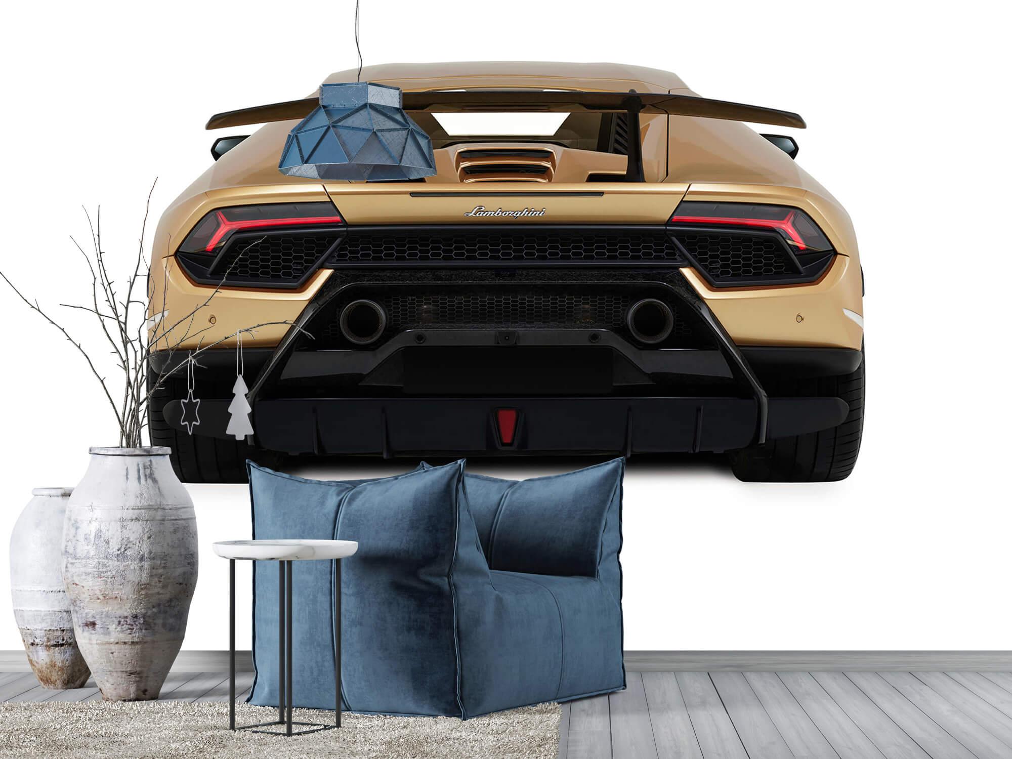 Wallpaper Lamborghini Huracán - Vue arrière, blanc 9