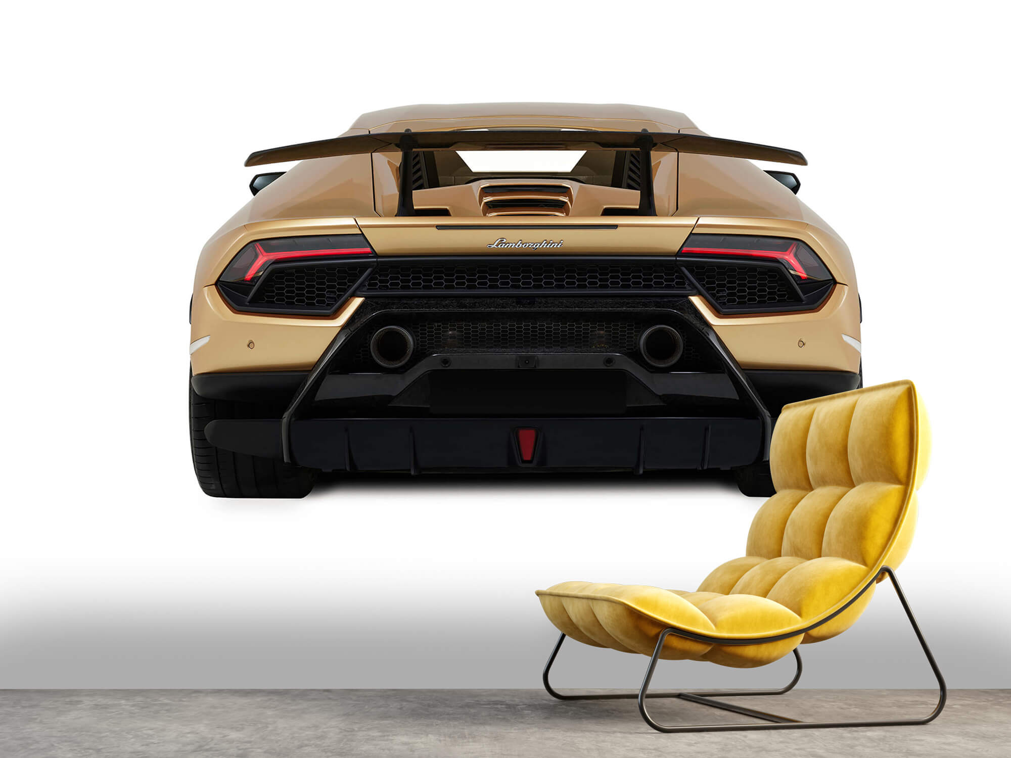 Wallpaper Lamborghini Huracán - Vue arrière, blanc 10