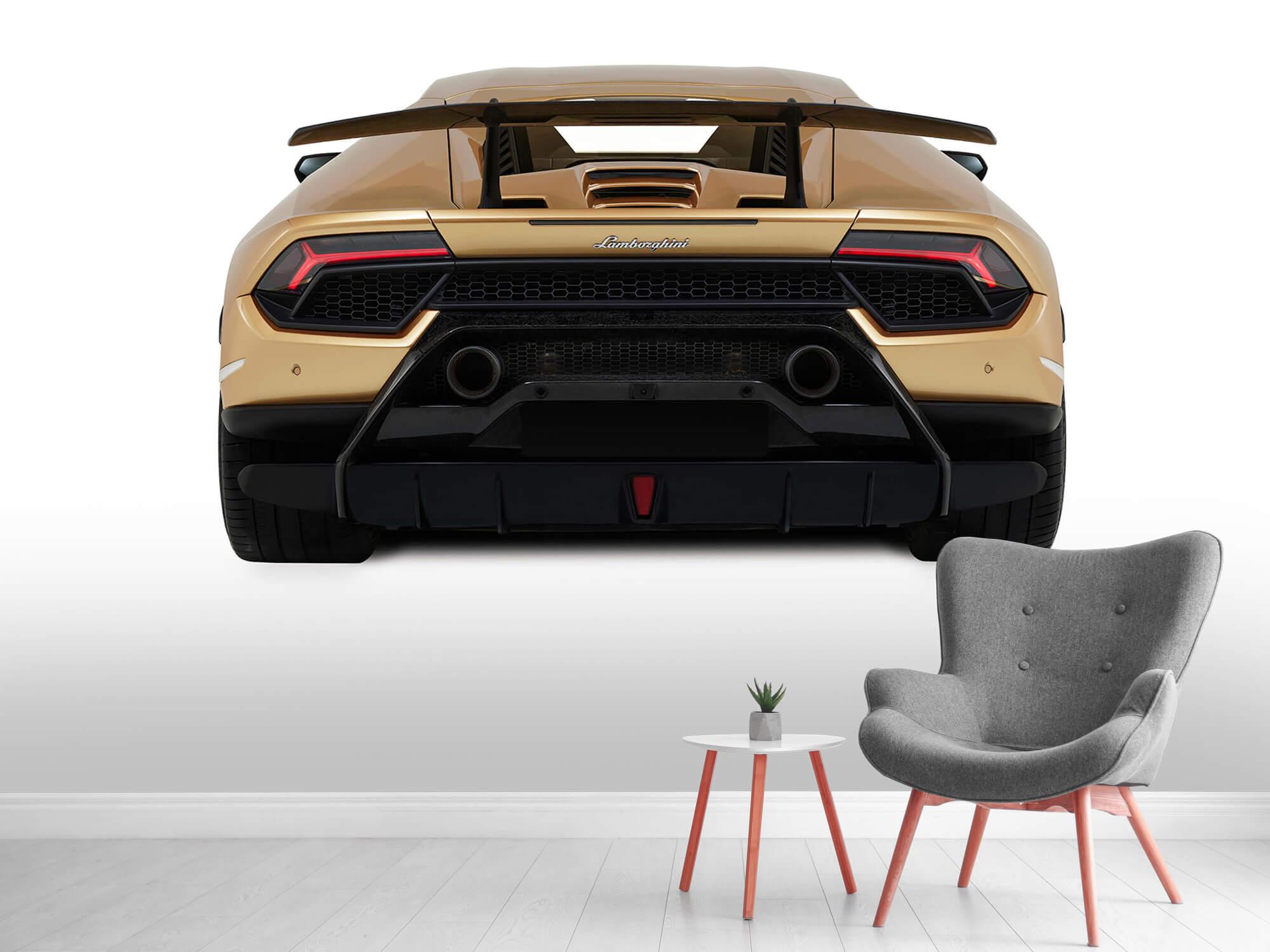 Wallpaper Lamborghini Huracán - Vue arrière, blanc 5