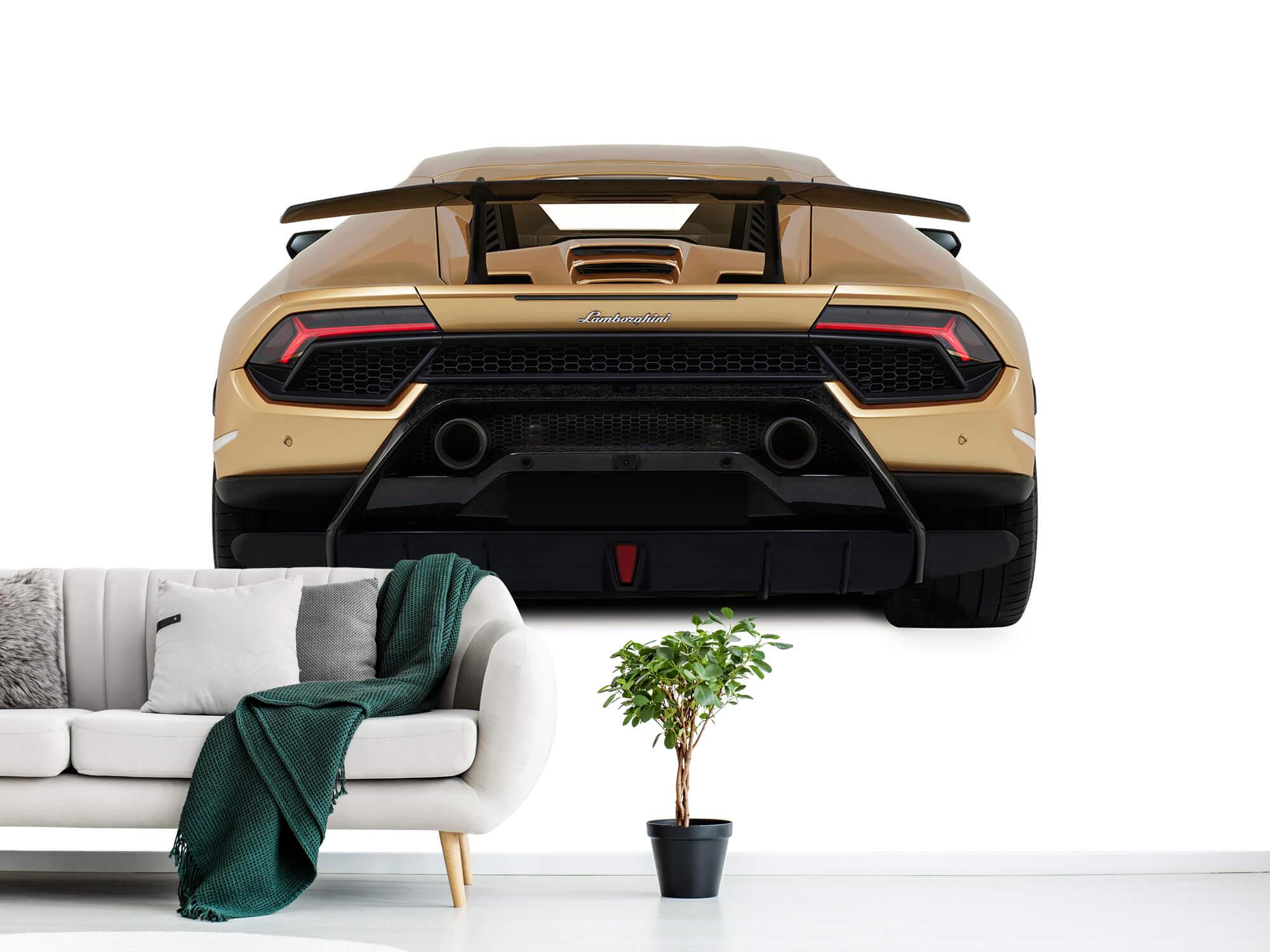 Wallpaper Lamborghini Huracán - Vue arrière, blanc 2