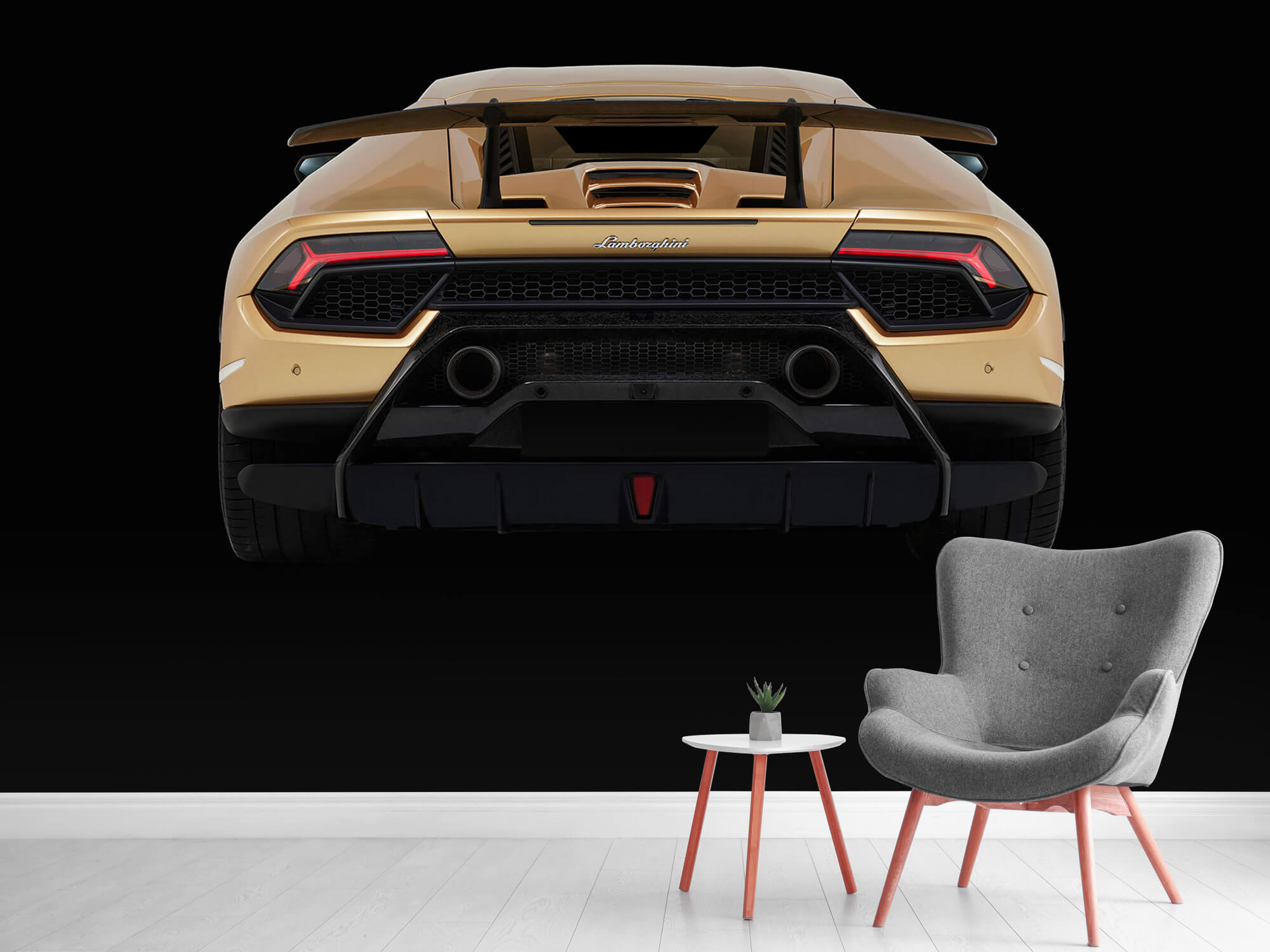 Wallpaper Lamborghini Huracán - Arrière, noir 11