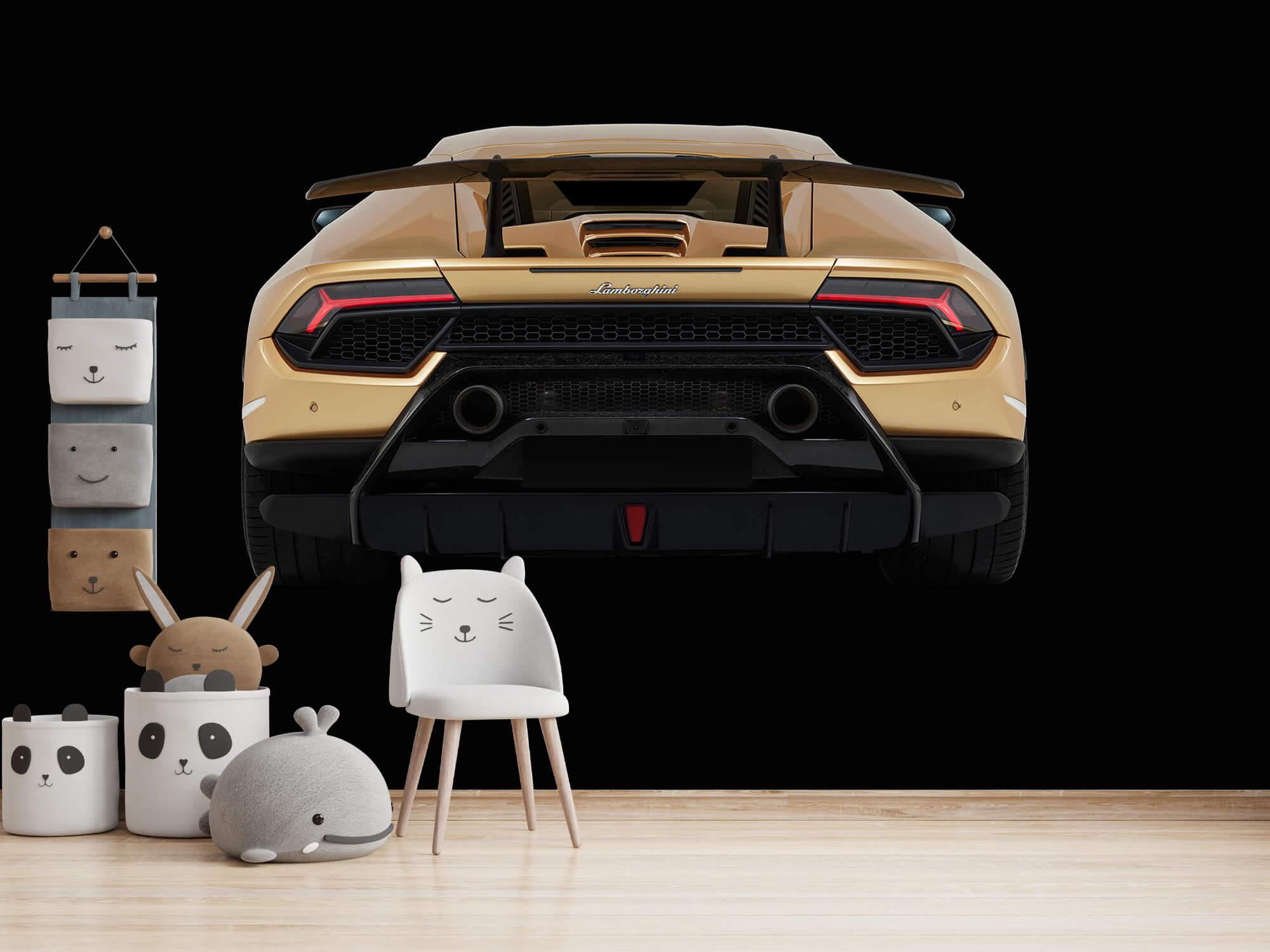 Wallpaper Lamborghini Huracán - Arrière, noir 14