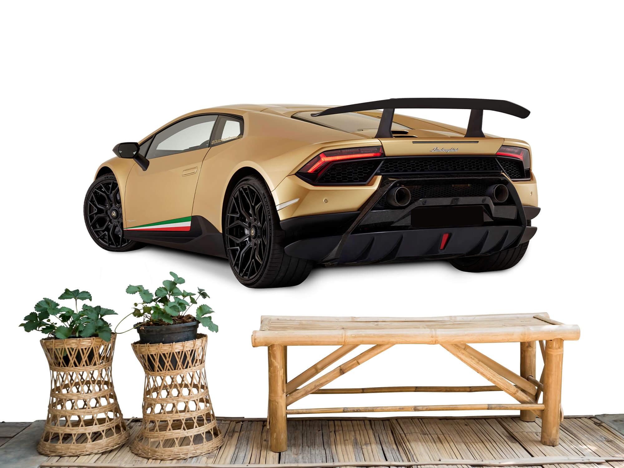 Wallpaper Lamborghini Huracán - Côté arrière gauche, blanc 6