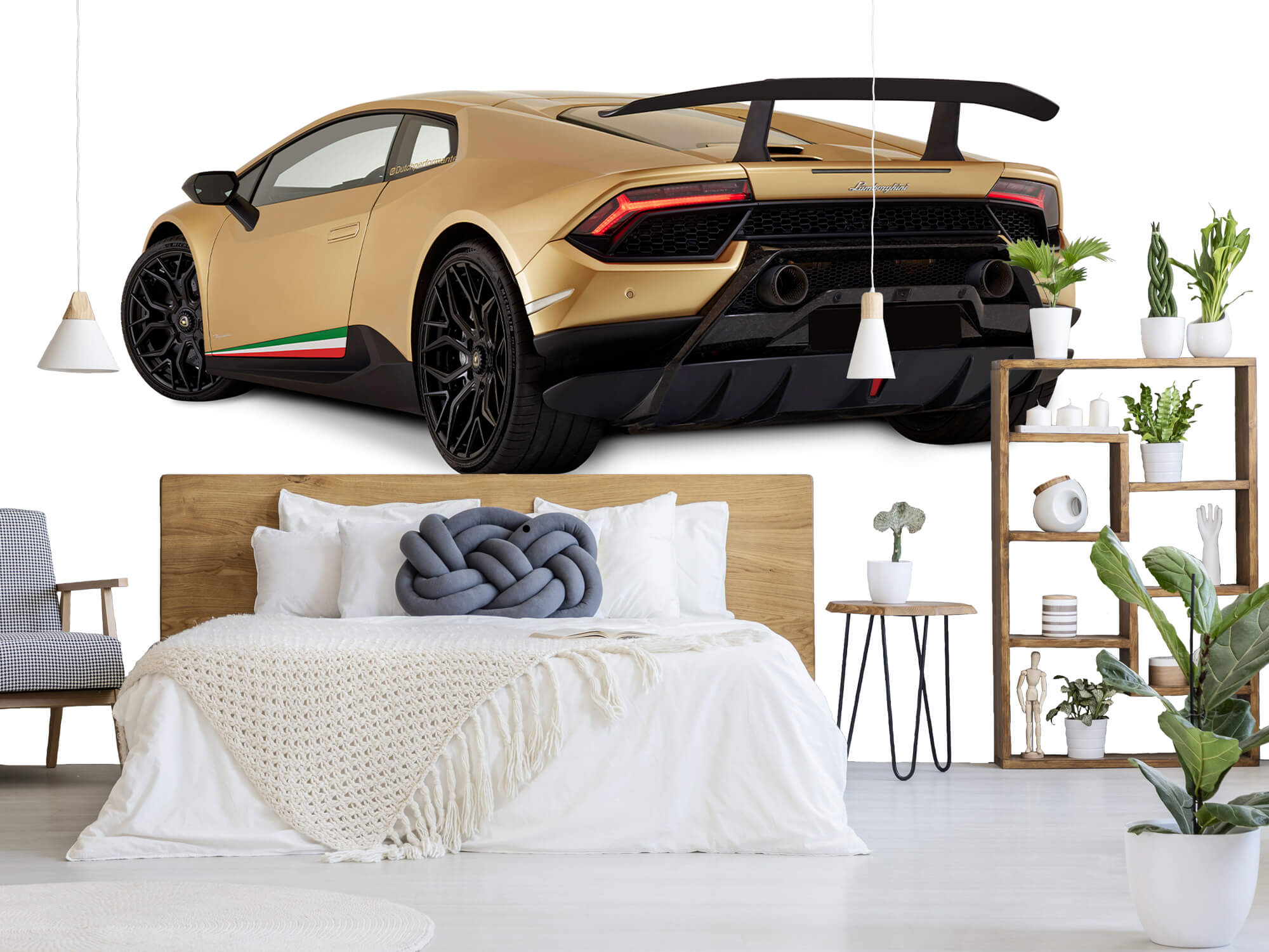 Wallpaper Lamborghini Huracán - Côté arrière gauche, blanc 7