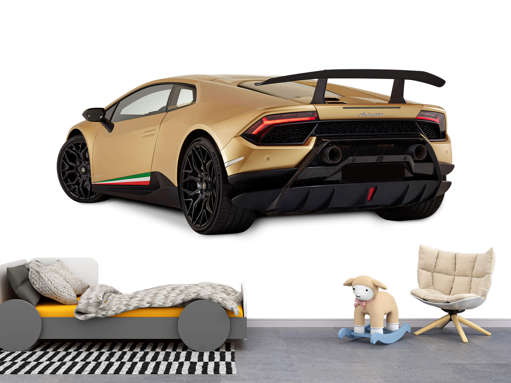 Wallpaper Lamborghini Huracán - Côté arrière gauche, blanc 10