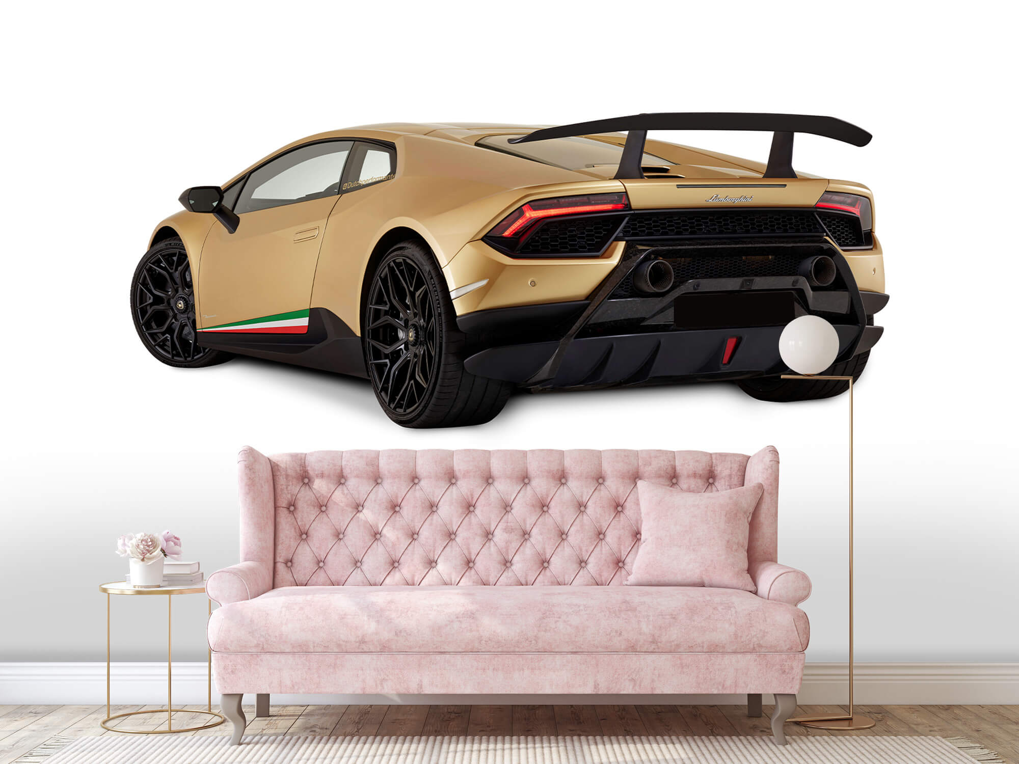 Wallpaper Lamborghini Huracán - Côté arrière gauche, blanc 13