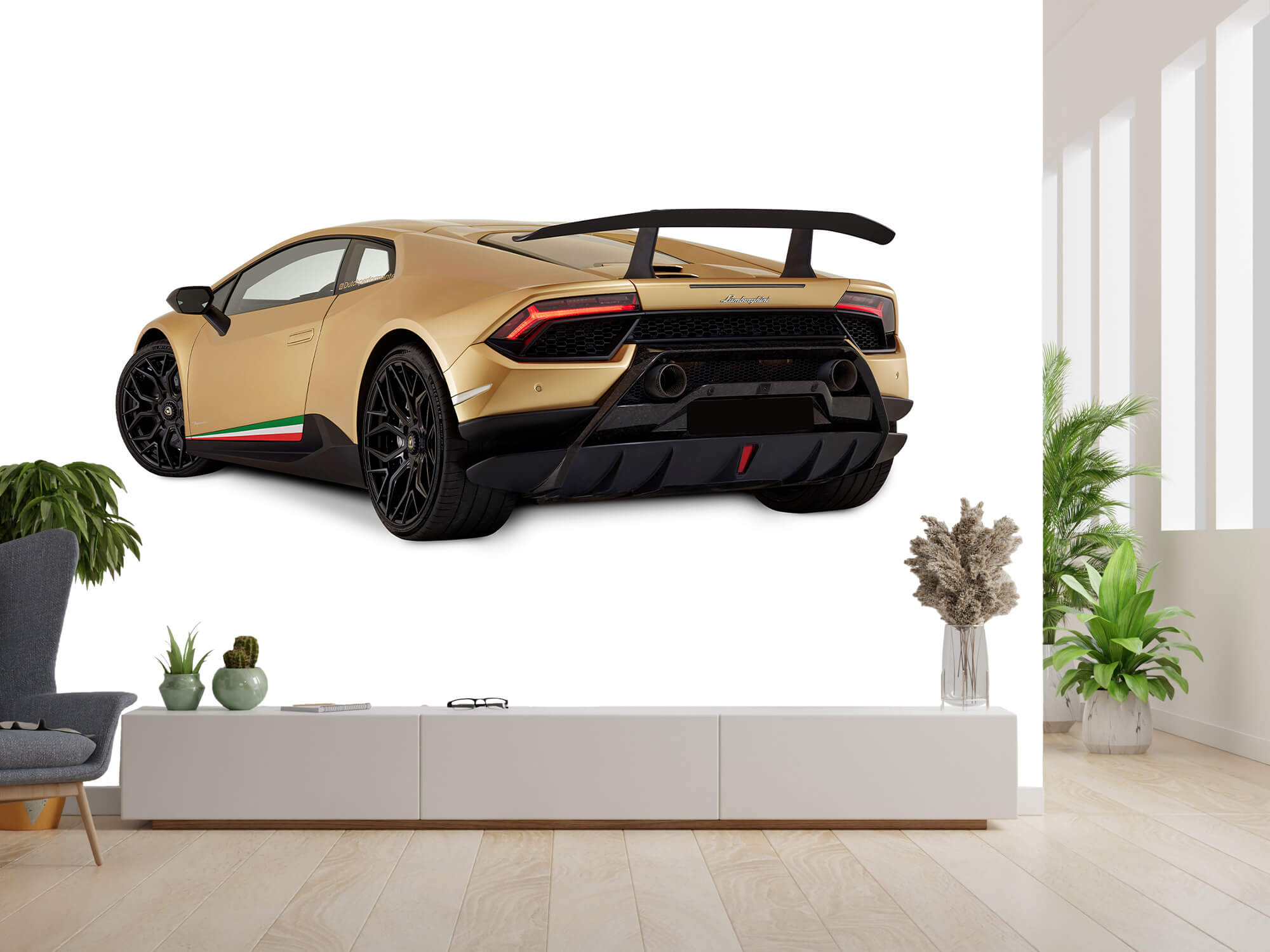 Wallpaper Lamborghini Huracán - Côté arrière gauche, blanc 3