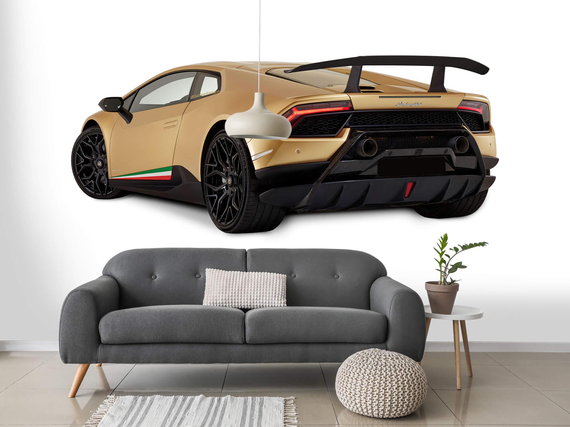 Wallpaper Lamborghini Huracán - Côté arrière gauche, blanc 15