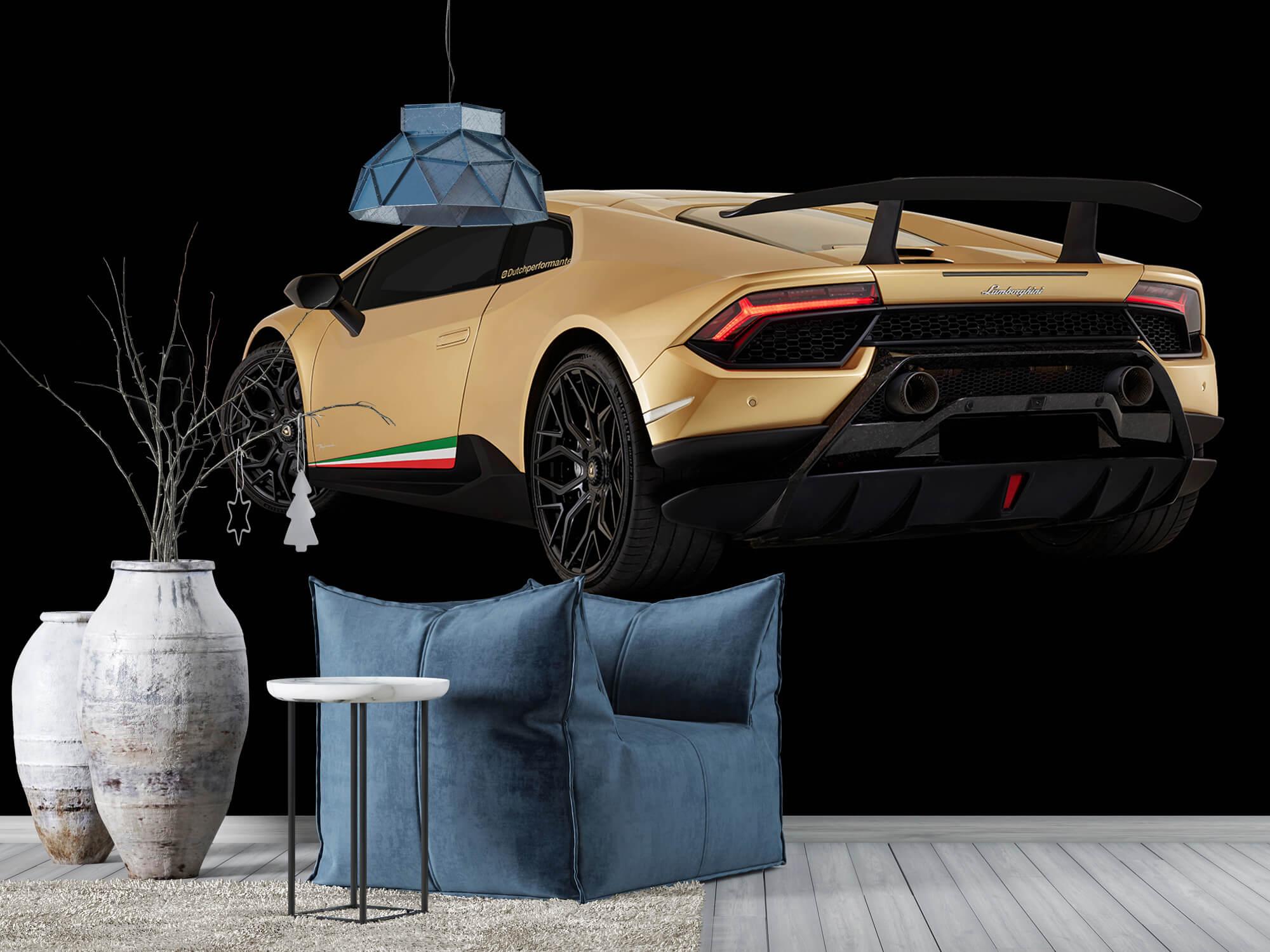 Wallpaper Lamborghini Huracán - Côté arrière gauche, noir 10