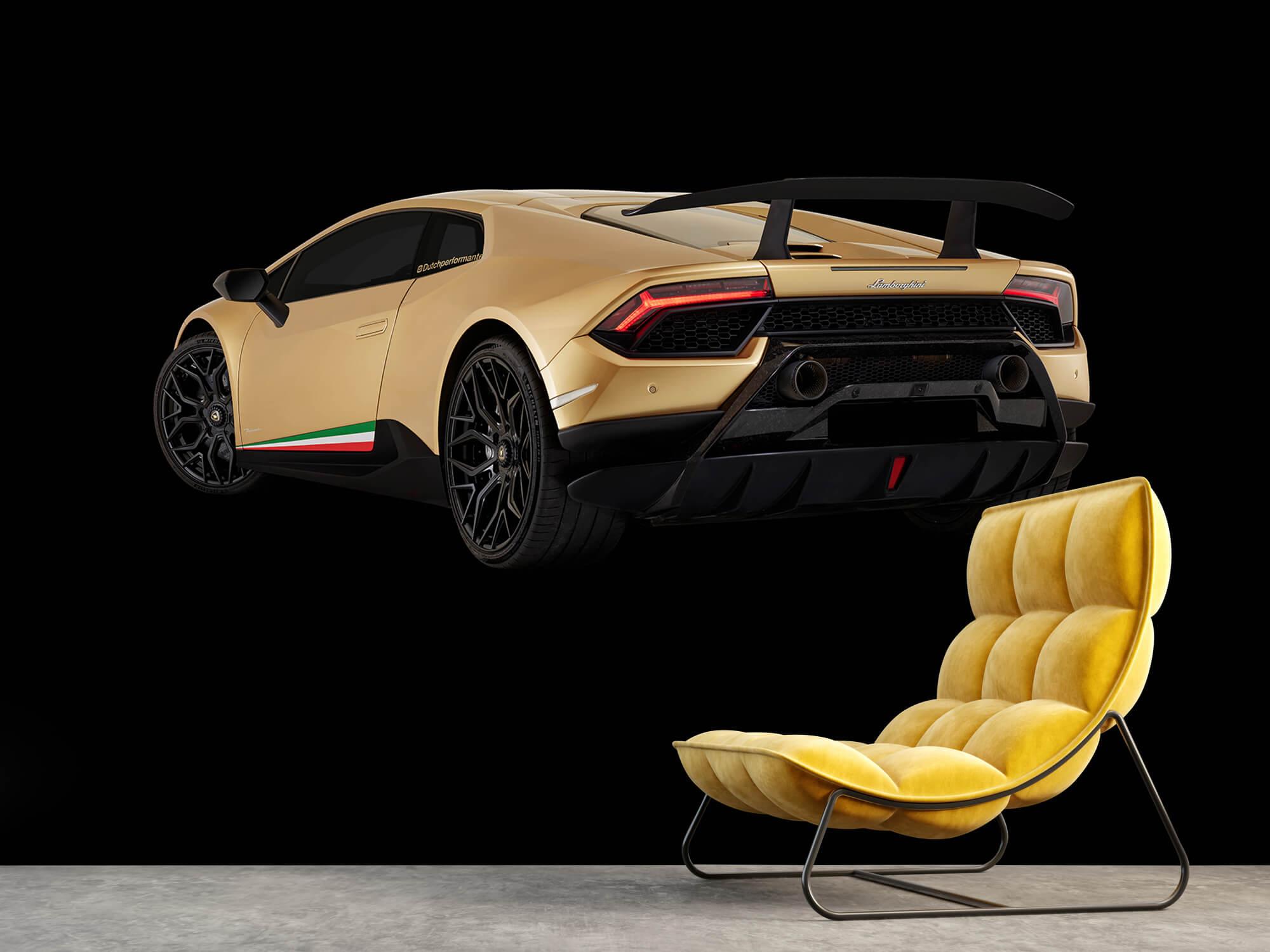 Wallpaper Lamborghini Huracán - Côté arrière gauche, noir 14