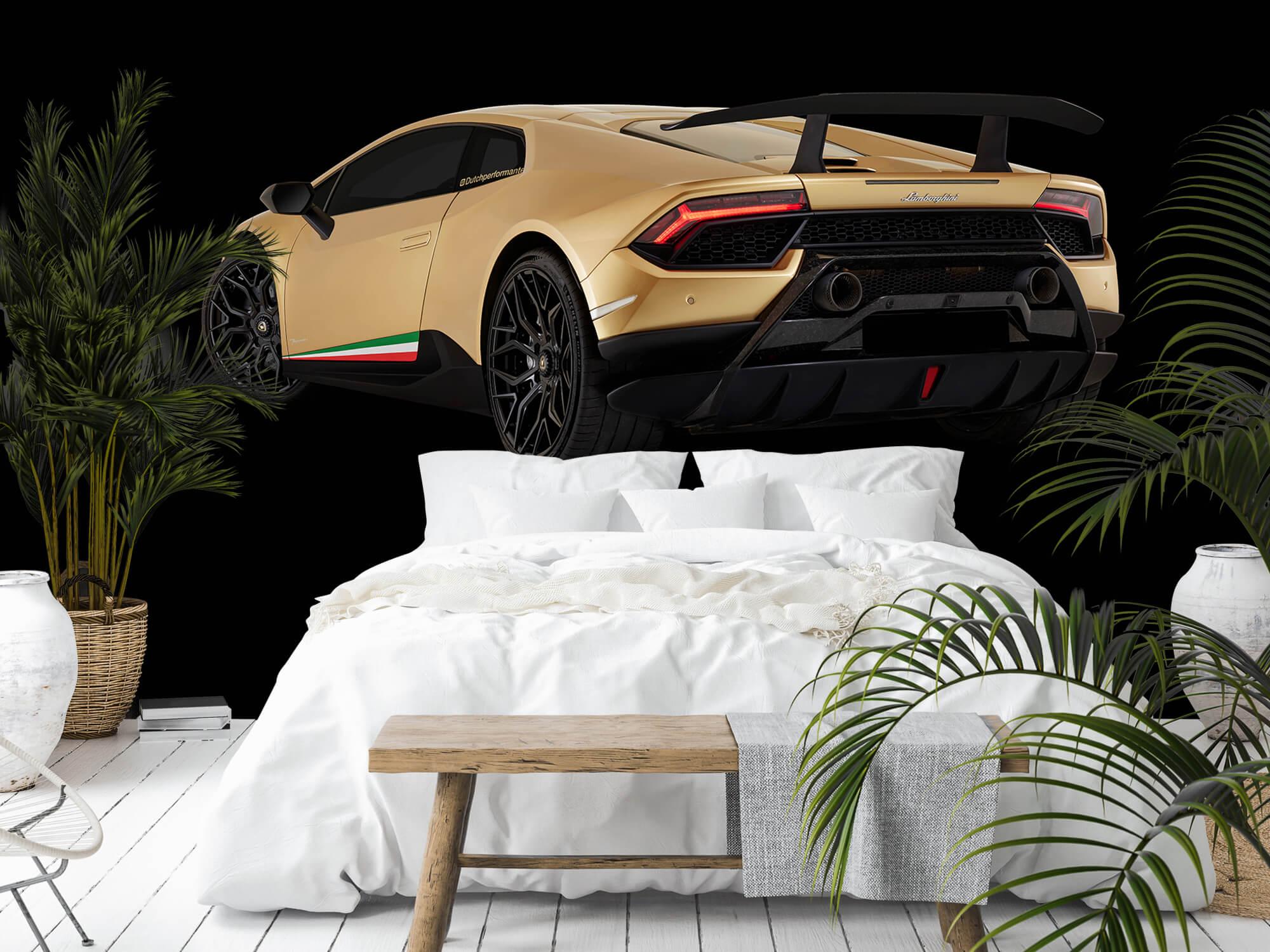 Wallpaper Lamborghini Huracán - Côté arrière gauche, noir 5