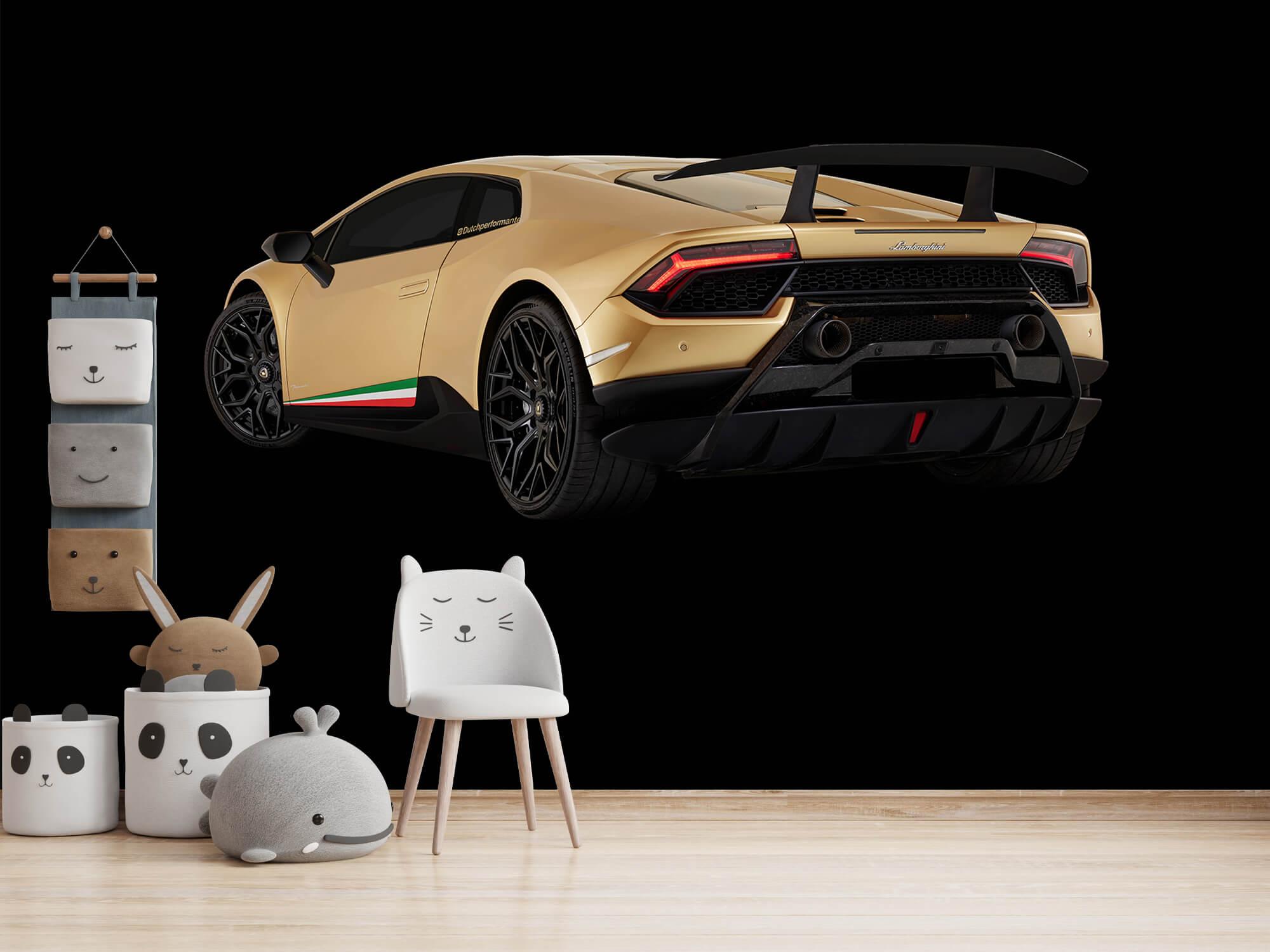 Wallpaper Lamborghini Huracán - Côté arrière gauche, noir 11