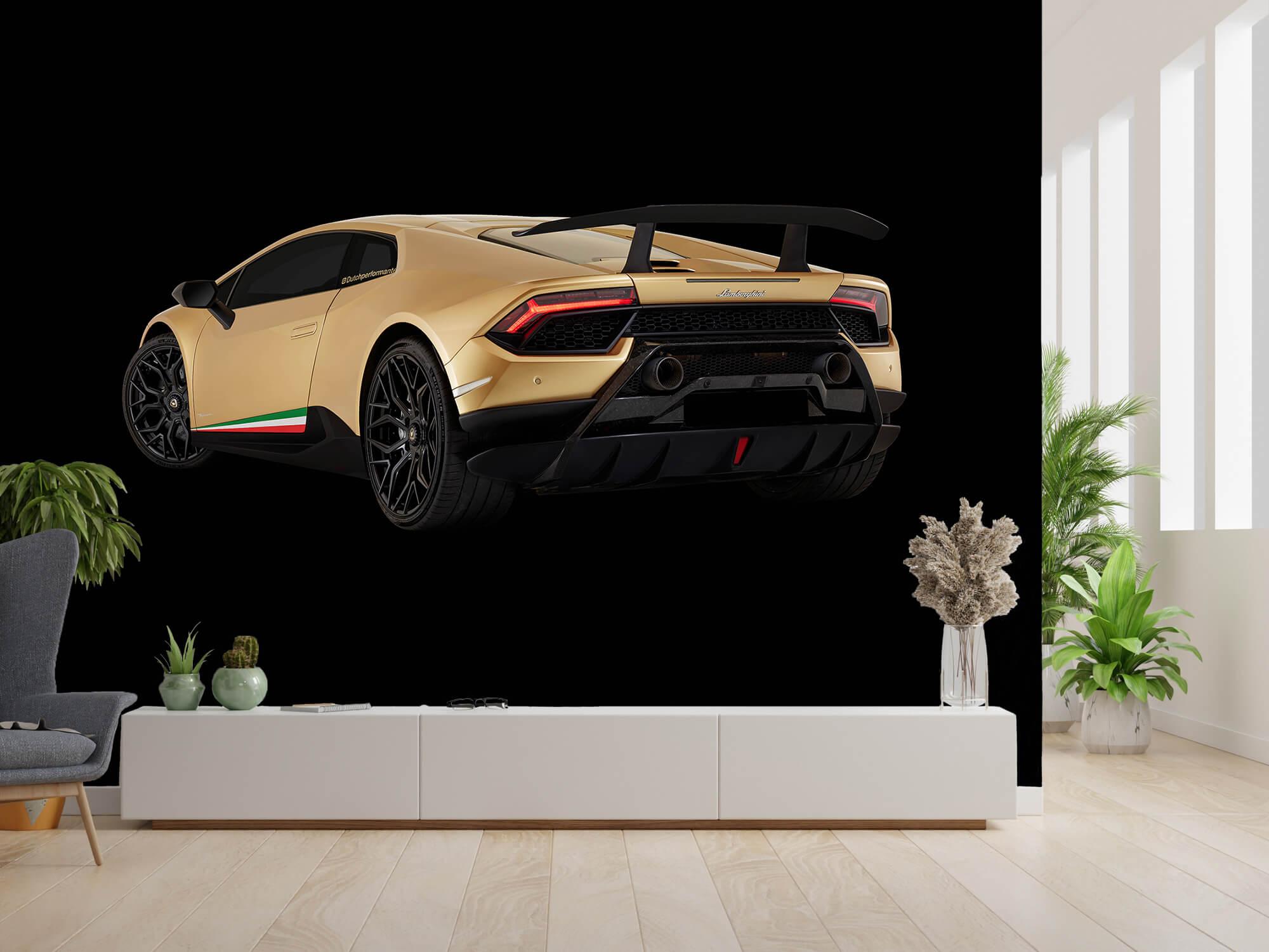 Wallpaper Lamborghini Huracán - Côté arrière gauche, noir 9