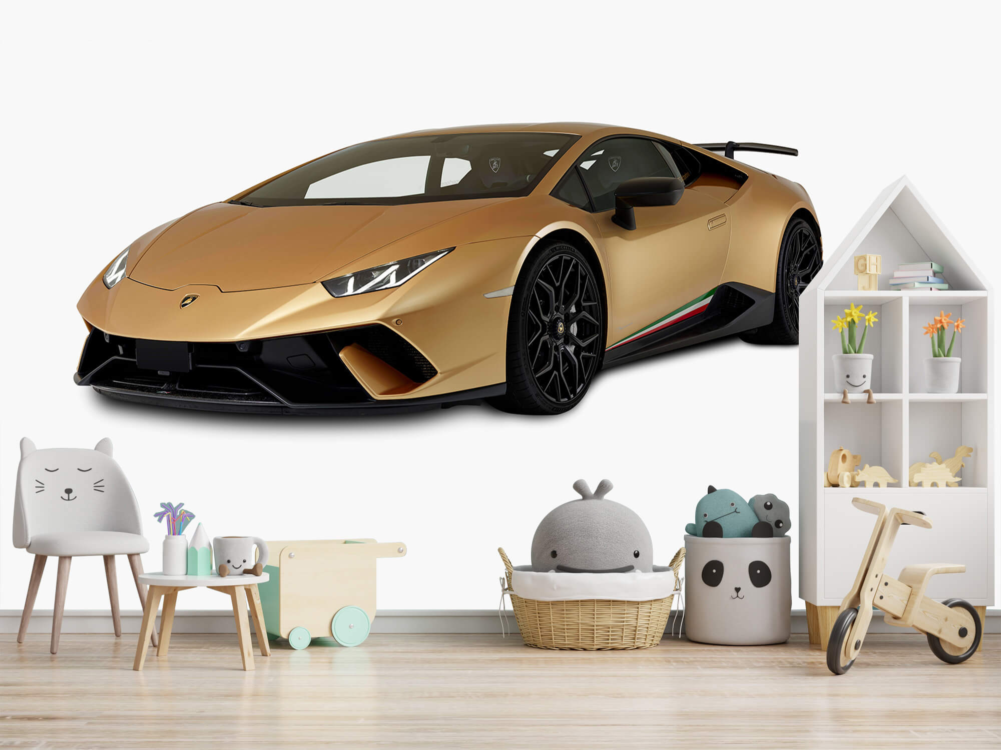 Wallpaper Lamborghini Huracán - Avant droit, blanc 3
