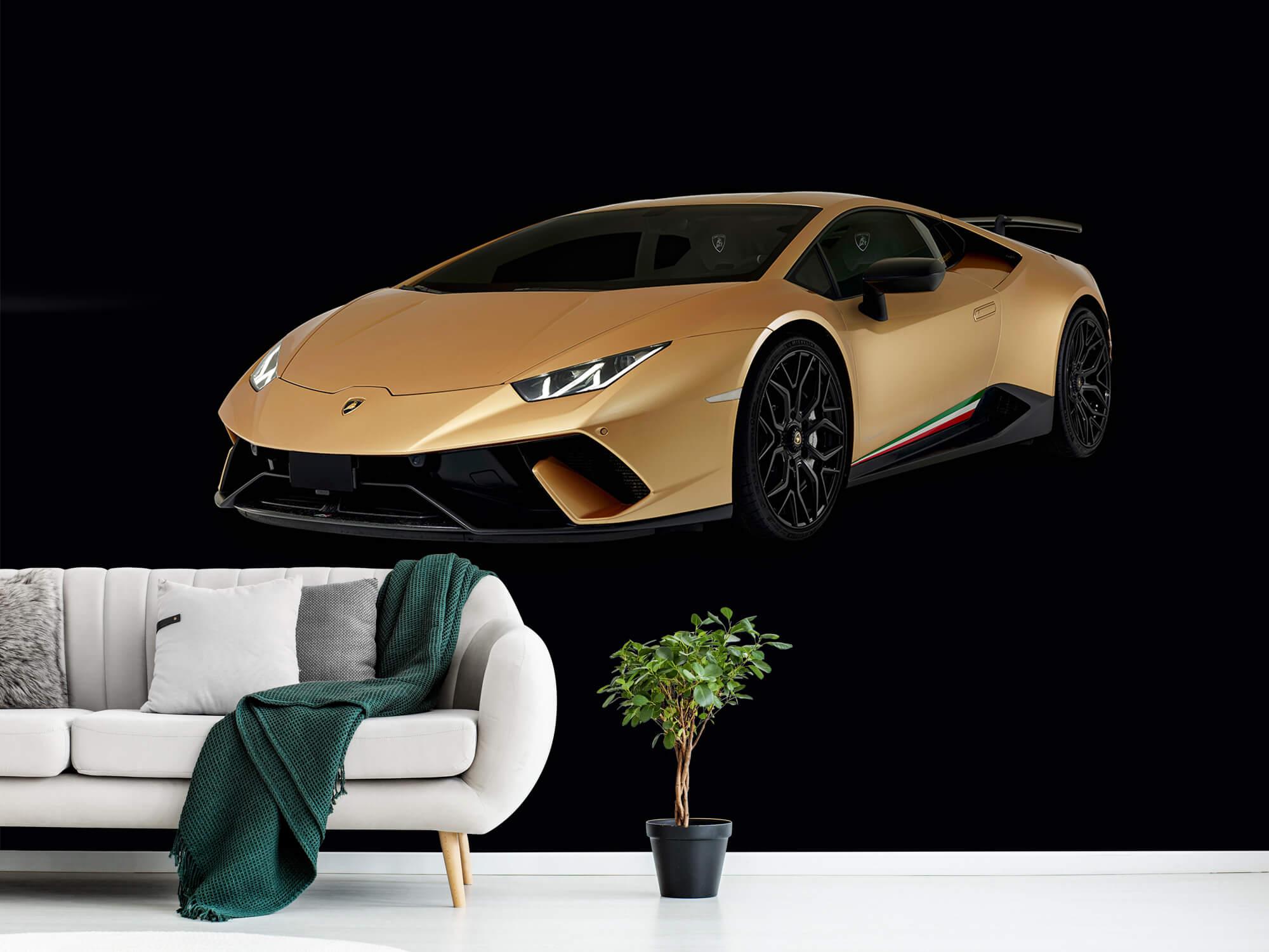 Wallpaper Lamborghini Huracán - Avant droit, noir 1
