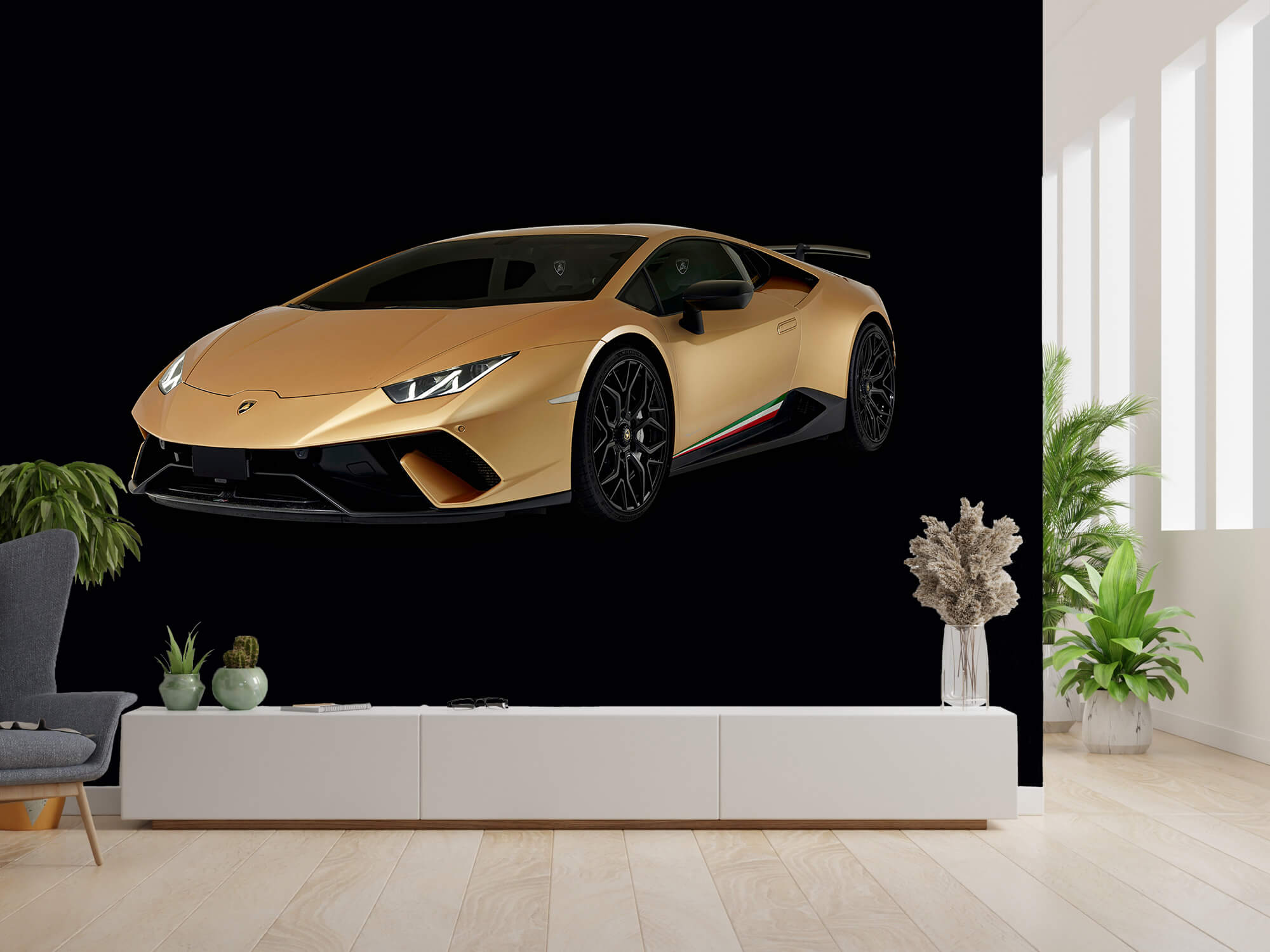 Wallpaper Lamborghini Huracán - Avant droit, noir 4